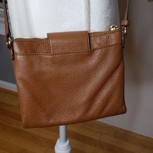 MICHAEL Michael Kors Bags - Michael Kors Leather Crossbody Acorn Brown Pebble